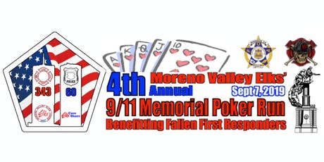 4th Annual 9/11 Memorial Poker Run tickets
