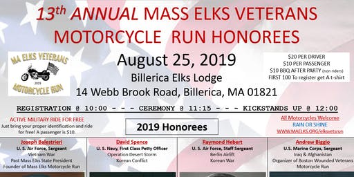 Mass Elks Veterans Motorcycle Run - Billerica