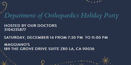Department of Orthopaedics Holiday Party