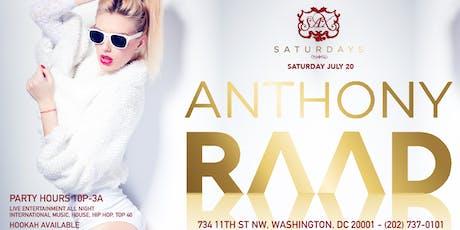 Saturday Dance Party at SAX W/ DJ ANTHONY RAAD tickets