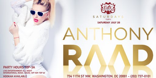 Saturday Dance Party at SAX W/ DJ ANTHONY RAAD