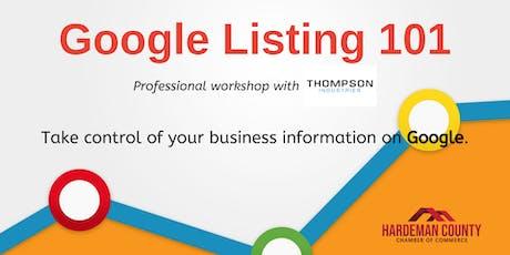 Google Listing 101 Workshop tickets