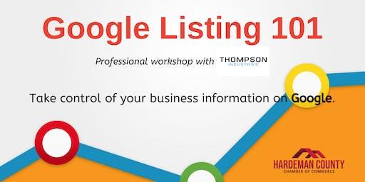 Google Listing 101 Workshop