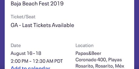 Baja beach fest 2019 tickets