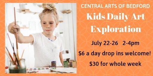 Bedford Kids Daily Art Exploration: July 22-26