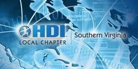 """HDI Southern Virginia Presents """"LEAN, ITIL, and Process Improvement"""" tickets"""