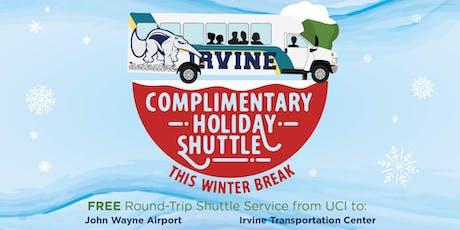 2019 Winter Break - UCI Holiday Shuttle - TO IRVINE TRANSPORTATION CENTER -12/12 & 12/13 tickets