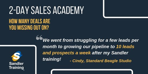 Sandler Sales Training Presents: 2 Day Sales Academy