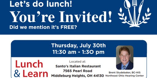 Northeast Ohio Hearing Center Lunch and Learn