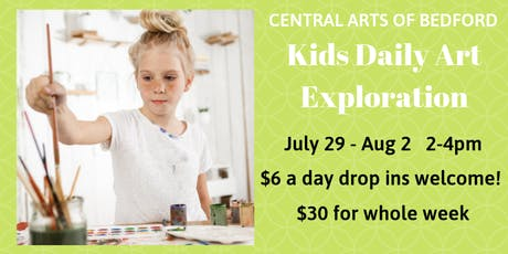 Bedford Kids Daily Art Exploration: July 29 - August 2 tickets