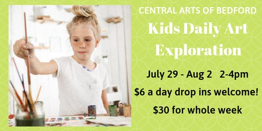 Bedford Kids Daily Art Exploration: July 29 - August 2