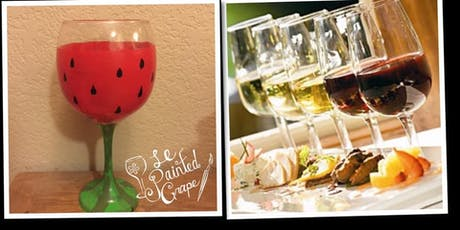 Wine Glass Painting WITH Wine Tasting & Food Pairing Class at Boring Winery tickets