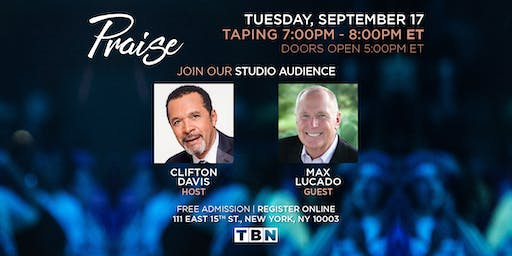 NY - Max Lucado with host Clifton Davis