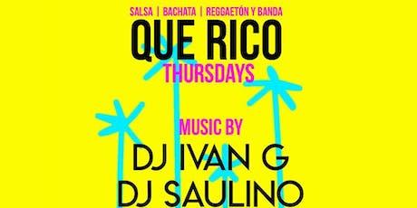 QUE RICO THURSDAYS @ AMBIANCE LOUNGE SACRAMENTO tickets
