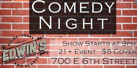 Edwin's Comedy Night tickets