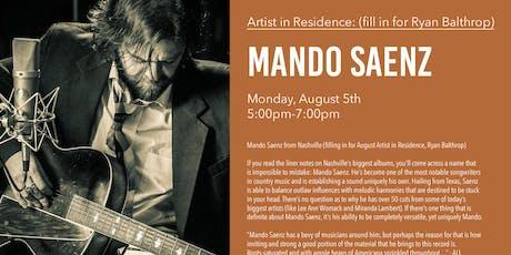 Mando Saenz from Nashville - Live Music tickets