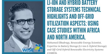 WISE Public Lecture: Mohamed Elkadragy, Renewable Energy Scientist  tickets