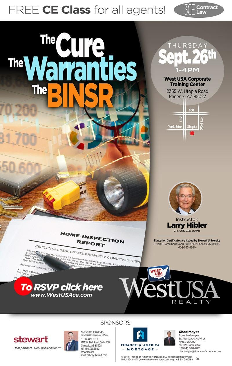 The Cure, The Warranties, The BINSR - (3 CE - Contract Law)