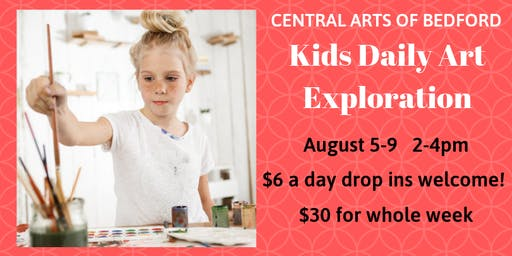 Bedford Kids Daily Art Exploration: August 5-9