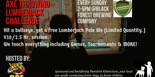 Lumberjack Challenge | Axe Throwing at Black Forest Brewing Company