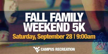 WVU Fall Family Weekend 5K tickets
