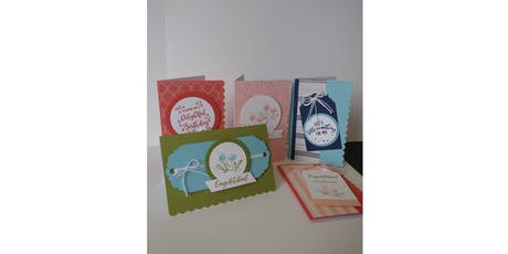 Scalloped Edge Note Card Class tickets