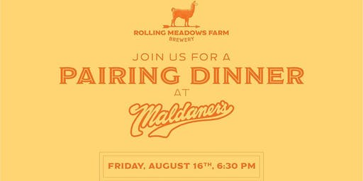 Maldaner's & Rolling Meadows Brewery 'Beer-Food Pairing'