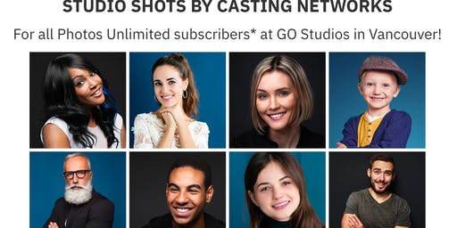 Casting Networks Subscribers FREE Headshot Session July 23 - Vancouver