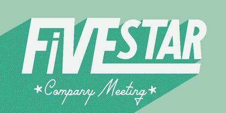 Five Star Company Meeting Fall 2019 tickets