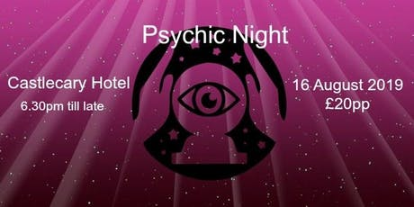 Psychic Night at Castlecary Hotel 4 Oct tickets