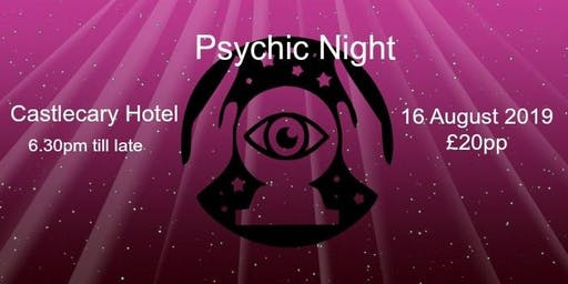 Psychic Night at Castlecary Hotel 4 Oct