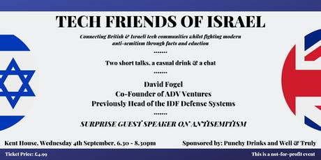Tech Friends of Israel - Westminster Edition #1 tickets