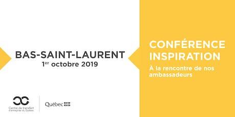 Les Rdv du repreneuriat - Conférence Inspiration Tourisme au Bas-St-Laurent tickets