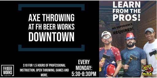 Axe Throwing at FH Beer Works Downtown