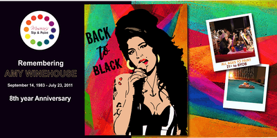 Museica's BYOB Sip & Paint - Amy Winehouse Anniversary (September 14, 1983 - July 23, 2011 )