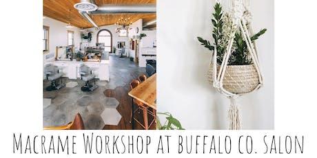 Macrame Plant Hang Workshop at Buffalo Co. Salon tickets