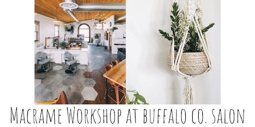 Macrame Plant Hang Workshop at Buffalo Co. Salon