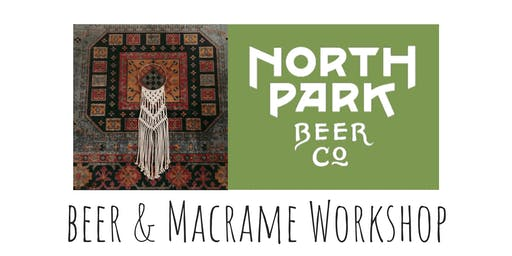 Macrame Hoop Wall Hang Workshop at North Park Beer Co.