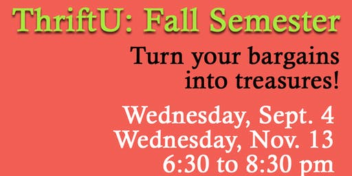 ThriftU: Fall Semester, Nov. 13 Class