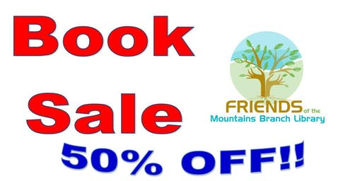 50% Off Book Sale @ Mountains Branch Library
