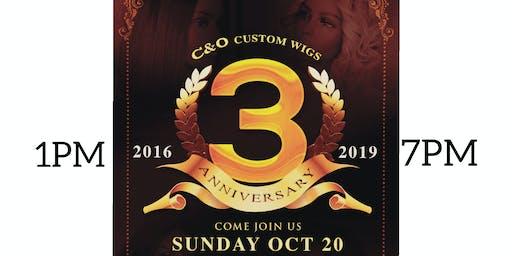 C&O CUSTOM WIGS 3RD YEAR ANNIVERSARY