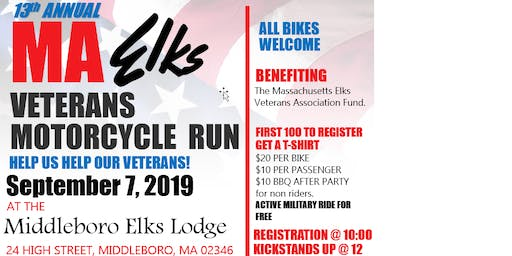 Mass Elks Veterans Motorcycle Run - Middleboro