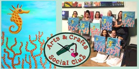 "BYOB Painting Class - ""Seahorse"" tickets"