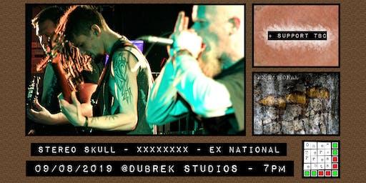 Stereo Skull, Ex National at Dubrek Studios