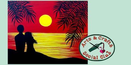 "BYOB Painting Class - ""Moonlit Romance"" tickets"