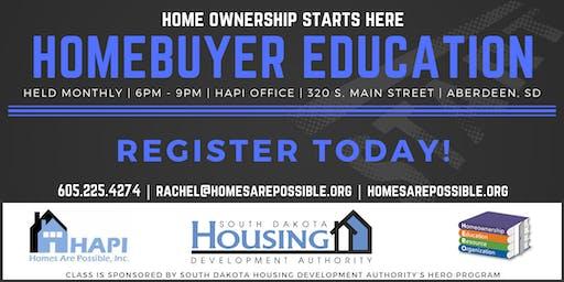 HAPI Homebuyer Education - Aberdeen, SD