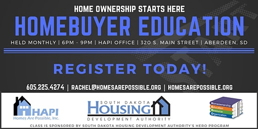HAPI Homebuyer Education - Aberdeen, SD