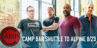 Camp Bar TOSA - Hootie + The Blowfish Shuttle to Alpine