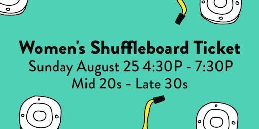 Shuffleboard Speed Dating LADIES TICKET