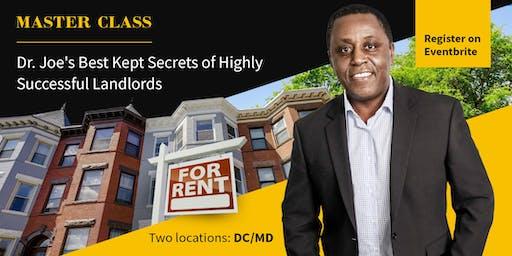 Dr. Joe's Best Kept Secrets of Highly Successful Landlords - DC SESSION
